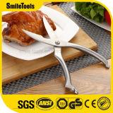 Tesouras das aves domésticas da galinha da cozinha do aço inoxidável com punho a mola