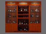 Het houten Retro Kabinet van de Wijn van de Muur