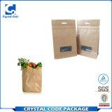 Bolsa de papel de Brown de la categoría alimenticia de la capacidad grande