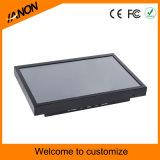 12 pulgadas - monitor legible del LCD de la alta de la velocidad del negro luz del sol del sistema de seguridad con la pantalla táctil