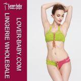 Dame-reizvolle brasilianische Häkelarbeit-Bikini-Badebekleidung (L32573-1)