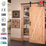 Hardware de madera sólida del estilo de la coctelera que resbala la puerta de granero