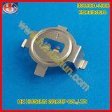 Plaque en laiton de contact de batterie de bouton avec le nickelage (HS-BA-007)