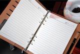 Caderno nobre do plutônio do projeto da classe elevada com fechamento magnético e espiral para dentro
