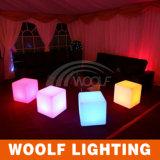 Sede di plastica del cubo di RGB LED della mobilia del LED