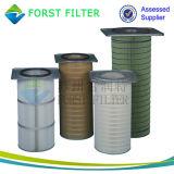 Elemento plisado polvo industrial del filtro de aire de Forst