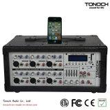 Tonoch 6チャネル力ボックスデジタル経路指定の混合コンソール