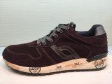 Chaussures de course d'unité centrale de cuir antimicrobien pour les hommes