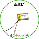 Bateria recarregável do Li-íon da bateria 802045 3.7V 400mAh do Li-Polímero