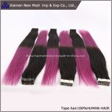 Выдвижение волос ленты Ombre Remy тона дюйма 2 оптовой продажи 18