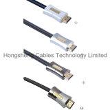 Cavo ad alta velocità del metallo HDMI dell'oro 24k per il giocatore di Blu Ray, 3D televisione con Ethernet per il giocatore di Blu Ray, televisione 3D