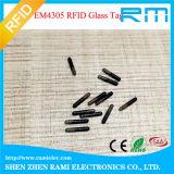 la etiqueta de cristal del microchip de 125kHz 134.2kHz RFID solicita ISO11784/11785
