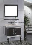 Gabinete de banheiro superior contrário do aço inoxidável de dissipador dobro do granito