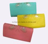 Signora di cuoio tagliata/Triplice-Piegata Wallet del laser piacevole della farfalla della scheda Wallet/PU di modo