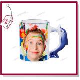 El delfín lindo diseña la taza de cerámica 3D para la sublimación de Mejorsub