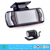 HD Dual Lens Rear Camera Dashboard Veículo DVR, HD LCD Display Câmera de carro manual HD DVR