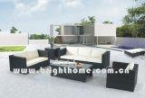 Rotin de PE et meubles d'aluminium, sofa extérieur de rotin (BP-824)