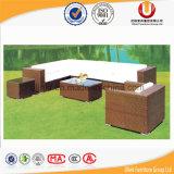 Muebles al aire libre de la rota del salón del jardín determinado seccional de mimbre del sofá (UL-2011)
