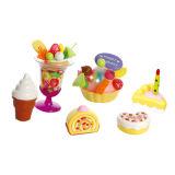 プラスチックDIYのフルーツのケーキのおもちゃはふりをする演劇のおもちゃ(H0001191)の