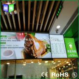 LEIDEN Menu met de Lichte Raad van de Naam van het Vakje voor het Teken van de Omlijsting van het Snelle Voedsel van het Restaurant