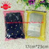 Le tissu estampé personnalisé par 2016 cogne les sacs rescellables en plastique zip-lock pour la chaussette de femelle/d'hommes