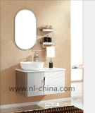 Ellipse-runder Spiegel-grauer Edelstahl-Badezimmer-Schrank