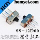 Interruptor de diapositiva del tipo del DIP de 3pin Interruptor de palanca de dos posiciones (HY-SS12D00)