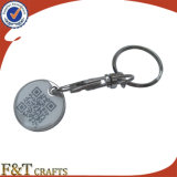 Keyring barato de compra da moeda do trole do metal da cópia/Keyring da moeda do trole da moeda Lock/Custom trole da compra