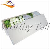 Rectángulo de regalo romántico de la cartulina del rectángulo blanco al por mayor de la flor de papel