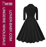 Frauen-grundlegendes beiläufiges Partei-Arbeits-Kleid (L36085-1)