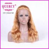De lange Blonde Pruik van het Haar van de Pruik van het Kant van de Kleur Braziliaanse Voor Rechte