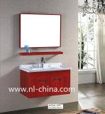 Cabina de cuarto de baño roja del acero inoxidable de la pintura del estilo alemán