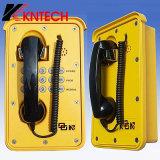 Telefones impermeáveis Kntech Knsp-09 do telefone resistente