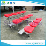 Dismountable Bleachers System Steel Seating с Plastic Seats