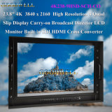 Moniteur de TFT LCD de pouce 4k du boîtier aluminium 23.8