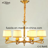 New Design Antique Fabric Modern Copper Crystal Chandelier Pendant Lighting