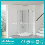 Casa do chuveiro com as 2 portas deslizantes montadas no assoalho (SD207N)