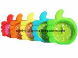 Horloge d'alarme de Tableau de doigt de la Chine mini de forme de maison de silicones silencieux créateurs en gros de décoration