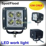 12W Square Spot 또는 Flood Beam LED Work Light