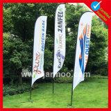 3m/4m/5m подгонянный флаг пляжа пера Teardrop печатание для промотирования или рекламировать