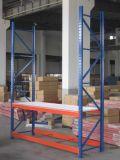 Anunciando o ferro da cremalheira do armazenamento da luz do armazém do equipamento que empilha prateleiras