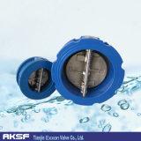 Ferro de Pn10/Pn16/Cast/placa Ductile do ferro/Wcb/EPDM/NBR/Swing /Dual/única válvula de verificação da bolacha da porta