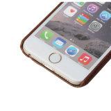 para la PU de la manera de la ranura para tarjeta 6s del iPhone 6 de cuero alisar la contraportada del teléfono del modelo del cocodrilo de la sensación