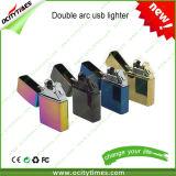 Alumbrador electrónico del cigarrillo del USB del arco doble superventas de Ocitytimes