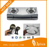 cuiseur de gaz épais d'acier inoxydable de bec du corps 2 de 0.38mm Jp-Gc200