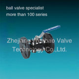 Wb-44 ASTM A216 Wcb Carbon Steel 3PC Flanged Ball Valve PN
