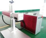 портативный гравировальный станок лазера волокна 30W на нержавеющей стали с роторным