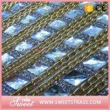 Folha de cristal brilhante da etiqueta da bolsa da corrente do metal da qualidade superior