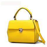 Leather elegante Women Handbag com Metal Lock (6053)