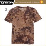 Camiseta redonda de la funda del cortocircuito del cuello de la Rápido-Sequedad respirable al aire libre